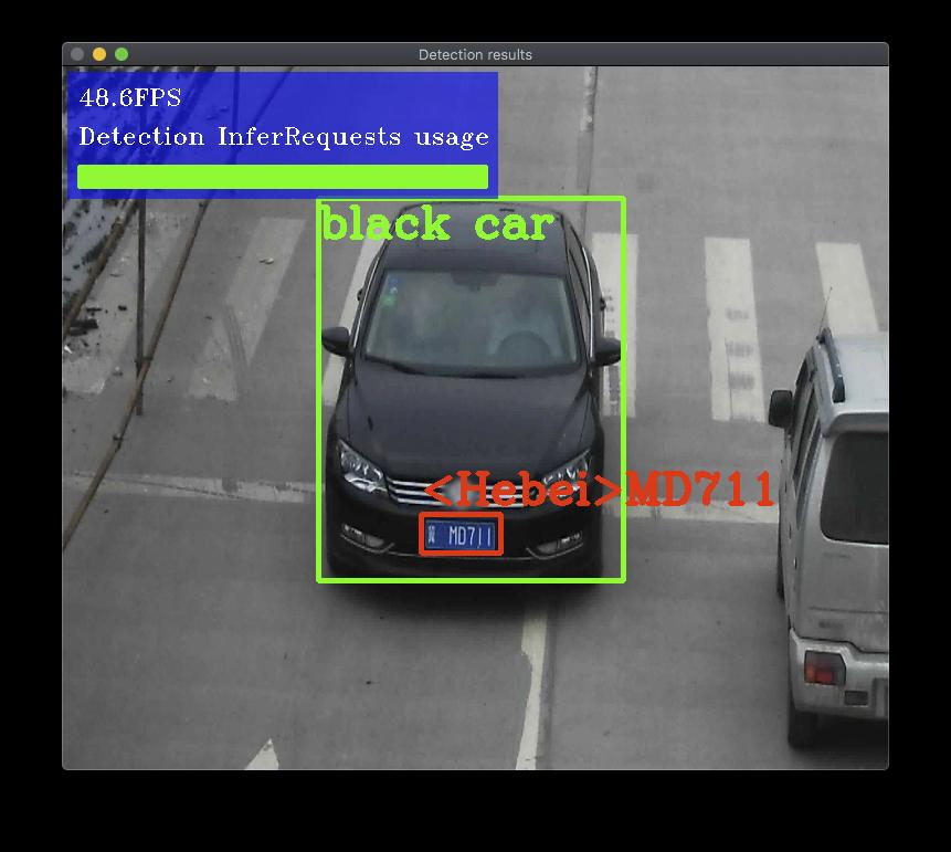 サンプルの実行(Mac OS編):security barrier camera